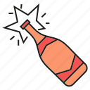 ber, beverage, bottle, champagne, drinks, party icon