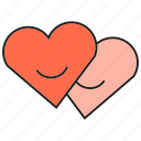 couple, hearts, love, smile, valentine icon