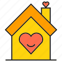 heart, house, love, sweet home icon
