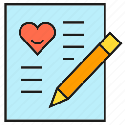 document, email, love letter, writing icon