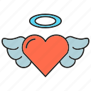 angel, heart, love, valentine, wedding, wing icon