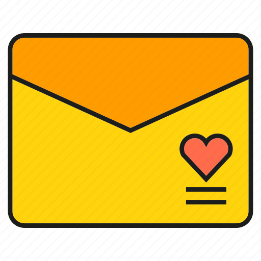 email, envelope, letter, love letter, send icon