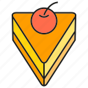 cake, cherry, dessert, sweets icon