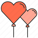 balloon, heart, love, valentine, wedding icon