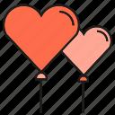balloon, heart, love, valentine, wedding