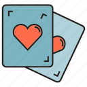 card, game, heart, play icon