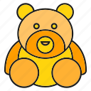 bear, gift, toy