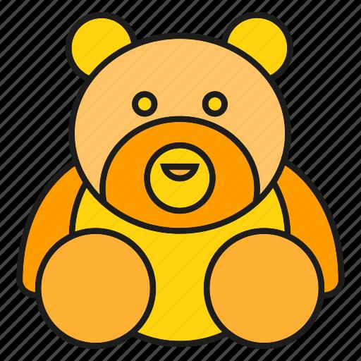 bear, gift, toy icon