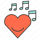 heart, love, music, song, sound, valentine, wedding icon