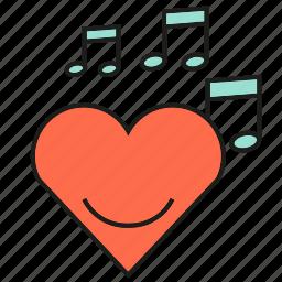 heart, love, music, song, sound, valentine, wedding icon