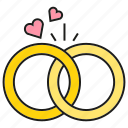 couple, heart, wedding, wedding ring icon