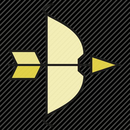 arrow, bow, dart, weapon icon