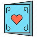 card, heart, love icon