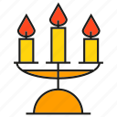 candle, dinner, fire icon