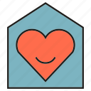 heart, home, house, sweet, wedding icon