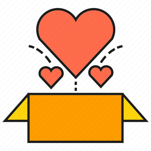 Box, gift, heart, love, present, valentine icon - Download on Iconfinder