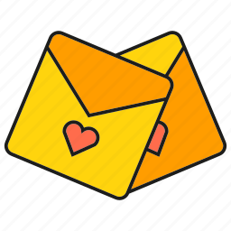 email, heart, letters, love mail, send icon