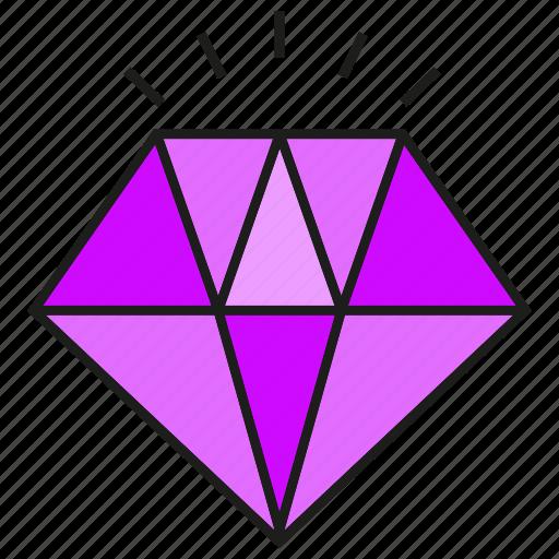 adamant, diamond, gem, gift, jewel, value icon
