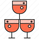 alcohol, beverage, drinks, glass, liquor, wine icon
