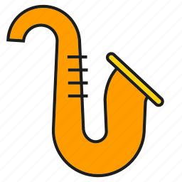 instrument, jazz, music, saxophone, sound icon