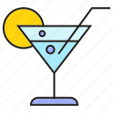 alcohol, beverage, drinks, lemon, liquor, soda icon