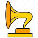 horn, instrument, music, sound icon
