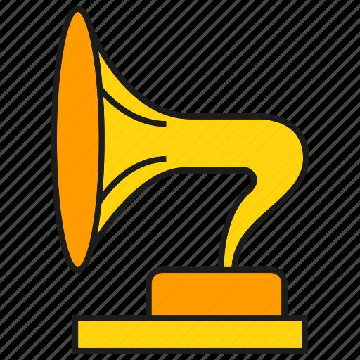 horn, instrument, music, sound icon