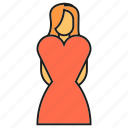 bride, female, wedding, wife, woman icon