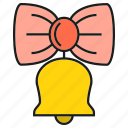 bell, bow, gift, ring icon
