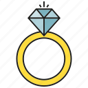 adamant, diamond, gem, jewel, ring, wedding ring icon