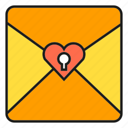 email, envelope, letter, lock, love letter, secret, send icon