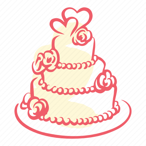 cake, heart, love, marriage, triumph, valentines, wedding icon