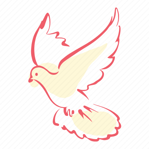dove, love, marriage, pigeon, valentines, wedding icon