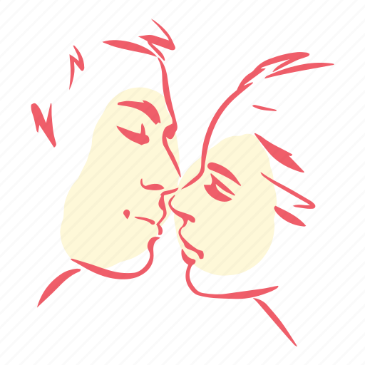 couple, kiss, love, lovers, marriage, valentines, wedding icon