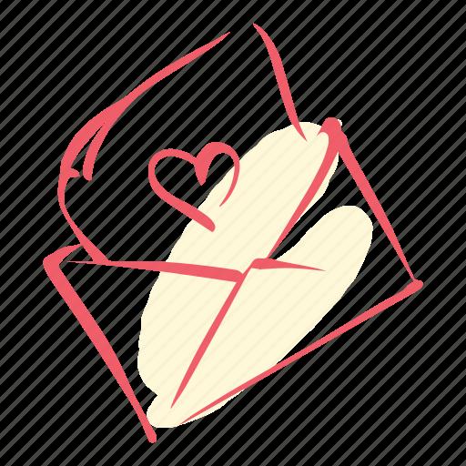 invite, letter, love, marriage, valentines, wedding icon