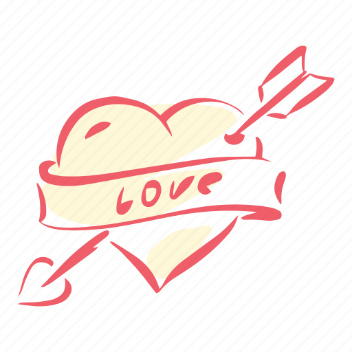Heart, love, valentines, cupid, marriage, arrow, wedding icon
