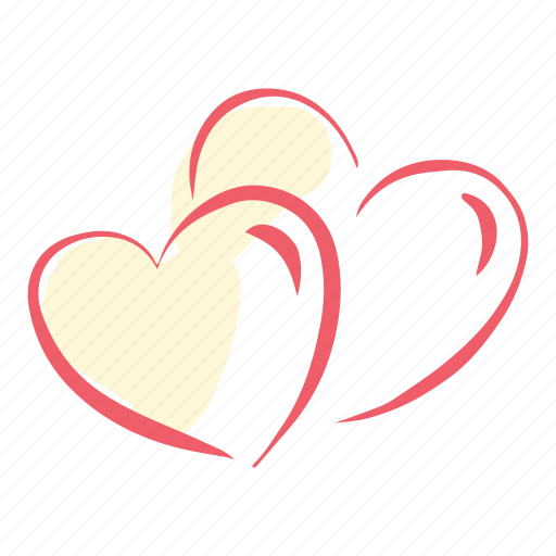 heart, love, marriage, two, valentines, wedding icon