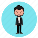 boy, handsome, men, suite, wedding, wedding icon, wedding suit icon
