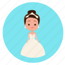 bride, dress, fiance, wedding, wedding dress, wedding icon, woman icon