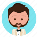 boy, handsome, man, suit, wedding, wedding icon, wedding suit icon