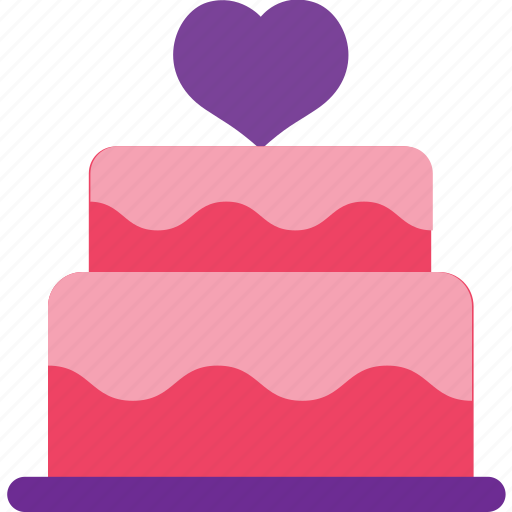 cake, set, tart, wedding icon