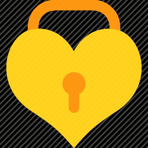 heart, lock, set, wedding icon