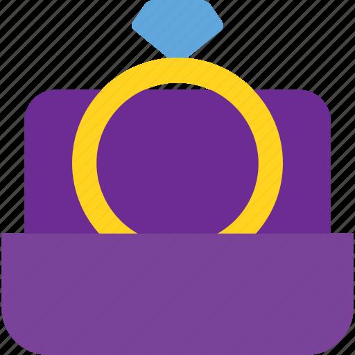 box, ring, set, wedding icon