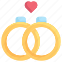 couple, couple rings, love, marriage, party, wedding day, wedding rings icon
