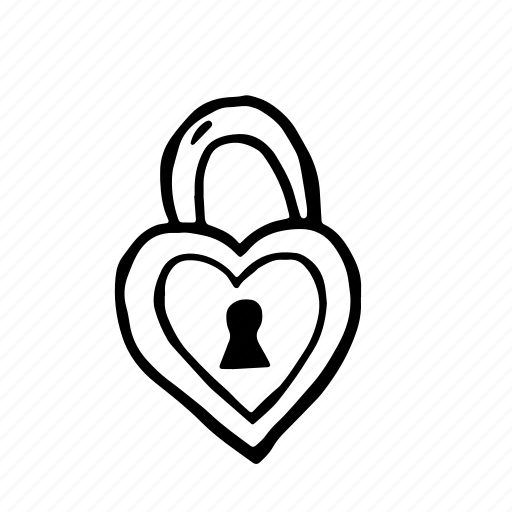 key, lock, love, wedding icon