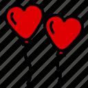 balloon, heart, love, romantic, wedding