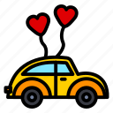 car, ceremony, marriage, vehicle, wedding