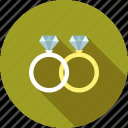 diamond, engagement, gold, jewelry, love, ring, wedding icon