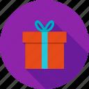 box, christmas, decoration, gift, present, red, ribbon icon