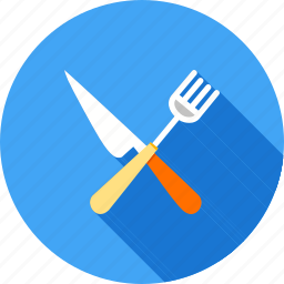 cooking, cutlery, fork, knife, meal, spoon, utensil icon
